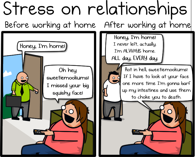 Working at Home, by Matthew Inman of theoatmeal.com